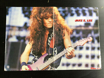 JAKE E LEE OZZY OSBOURNE BADLANDS 35 Great Rare Clippings/poster  • 8£