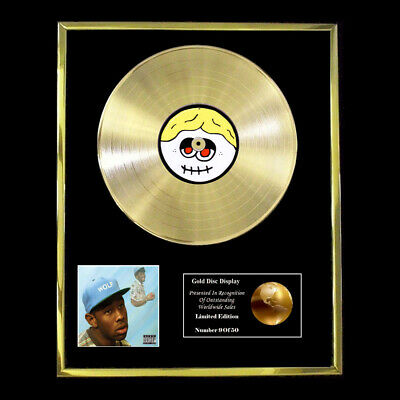 Tyler The Creator Wolf Cd Gold Disc Vinyl Record  Free Shipping To U.k. • 167.97£