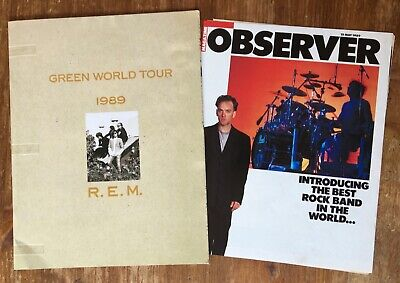 R.e.m. Green World Tour 1989 Programme + Jon Savage Observer Article Cutting  • 15£