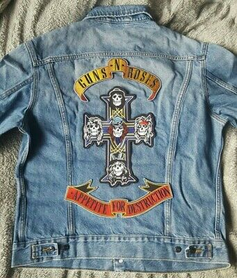 Guns N Roses Patch Custom MADE FOR YOU Denim Jacket/Vest Any Size & Colour New • 78.95£