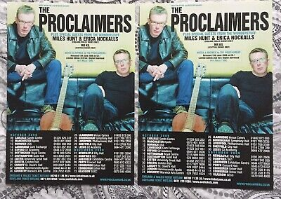 The Proclaimers - UK Tour October / November 2009 - 2 X A5 Flyers. • 0.99£