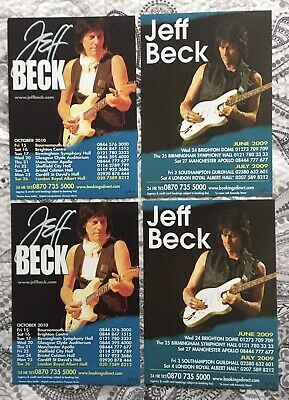 Jeff Beck - 4 X A5 Flyers From Two UK Tours - 2009 & 2010. • 0.99£