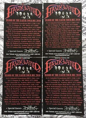 Hawkwind - 'Blood Of The Earth' - UK Tour December 2010 - 4 X A5 Flyers. • 0.99£