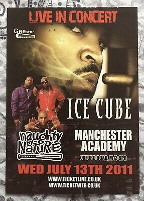 Ice Cube - Manchester Academy - Wed 13th July 2011 - 1 X Postcard Size Flyer. • 1.25£