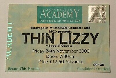 Thin Lizzy - Used Concert Ticket - Manchester Academy - Fri 24th November 2000. • 4.99£