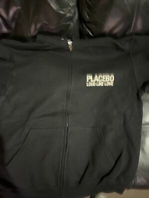 Placebo Loud Like Love Rock Band Zipper Hoodie Size Small • 8£
