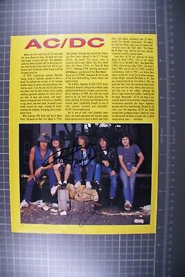 AC DC Angus Young Signed Magazine Page  • 100£