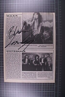 WASP Blackie Lawless Signed Magazine Page  • 60£
