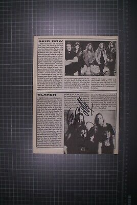 Slayer Signed By Original Line-up Magazine Page  • 75£
