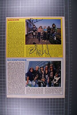 Saxon Signed Biff Bifford And Paul Quinn Magazine Page  • 20£