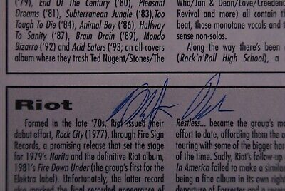 Riot Signed Mark Reale Magazine Page  • 20£