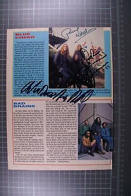 Blue Cheer Signed Dickie Peterson Paul Whaley Duck MacDonald Magazine Page  • 30£