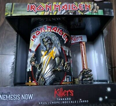 IRON MAIDEN Official Killers FIGURE HEAD Box Tankard Trooper Beer NEW Stunning • 59.95£