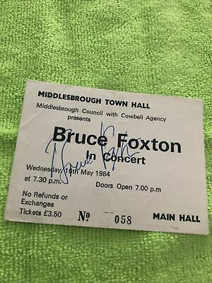 The Jam Ex The Jam Bruce Foxton Solo Tour Signed Photo And Signed Tickets. • 35£
