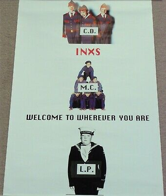 Inxs - Welcome To Wherever You Are - Uk Promo Poster For Store Use Only - Unused • 19.99£