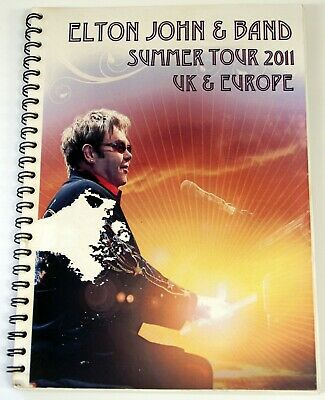 Elton John Itinerary UK & Europe Summer Tour 2011 • 25£