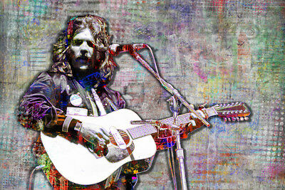 GLENN FREY Of The EAGLES Tribute 20x30in Poster Eagles Art Free Shipping • 28.35£
