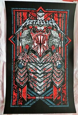 METALLICA - Limited Screen Print Poster - Denmark March 27th 2018 - NUMBERED • 22.99£