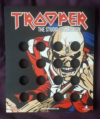 Iron Maiden Official Trooper Beer Bottle Top Collector's Display Frame New • 28£