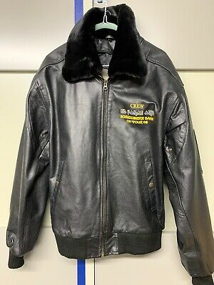 Iron Maiden - RARE 2008 Aviation Crew Jacket 'Somewhere Back In Time' Tour Large • 450£