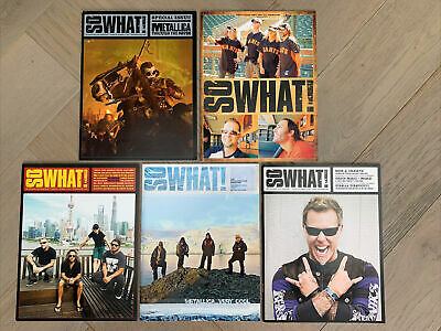 Metallica So What Magazines 5 Issues Vol 20 & 21 + Special Through The Never • 18.99£