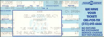 Inxs Unused Full Concert Ticket Not Stub 3/5/91 The Palace Auburn Hills • 7.15£