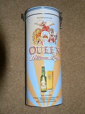Queen Limited Edition Bohemian Lager Tin, Bottle And Glass • 10.99£