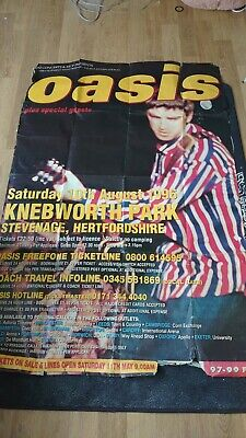 Genuine Original Oasis Knebworth 1996 Advertisement Poster Bill • 9.50£