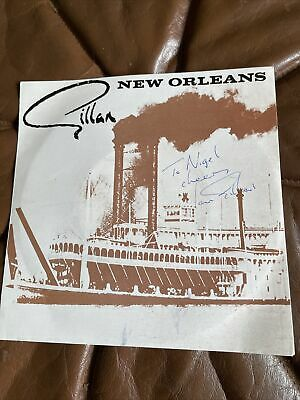 Ian Gillan New Orleans Single Signed • 89.99£