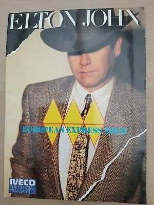 ELTON JOHN 1984 European Express Tour TOUR PROGRAMME EXCELLENT PLUS TICKET • 5£