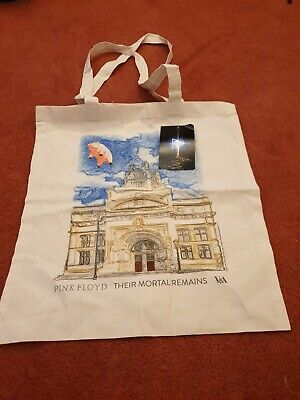 Pink Floyd V&A Cotton Bag.. Their Mortal Remains Exhibition Flying Pig • 8£