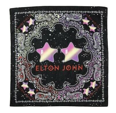 "NWT Elton John Bandana Face Covering Handkerchief   Dog Scarf 21"" NEW • 9.23£"