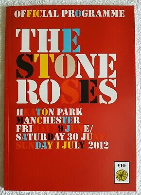 The Stone Roses Heaton Park 2012 Manchester Programme • 16£