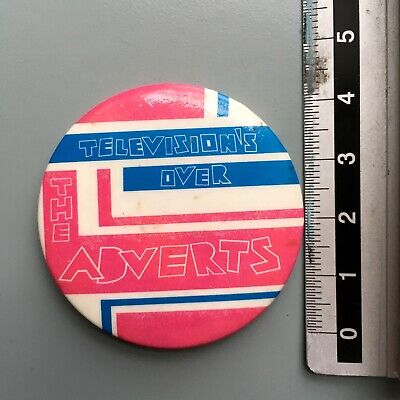 Vintage The Adverts, Televisions Over Original 1979 Punk Pin Badge • 10£