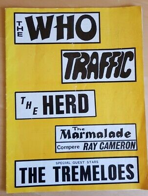 The Who, Traffic, The Herd, The Marmalade And The Tremeloes Tour Programme 1967 • 75£