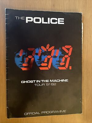 The Police Ghosts In The Machine 1981 Tour Programme • 4.75£