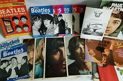 Beatles & Wings Vintage Collection Of 18 Items Beatles Monthly Club Sandwich Etc • 69.99£