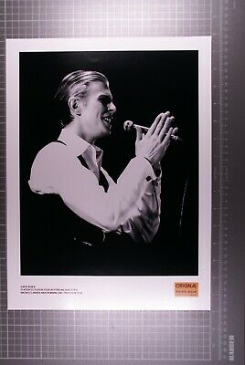 David Bowie Official Photo 40 X 30cm 1976 Signed By Photographer Philippe Auliac • 200£