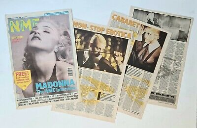 Madonna - Rare Colour Cover +interview Cutting / Clipping - U.k Nme 26/9/92 -vgc • 1.49£