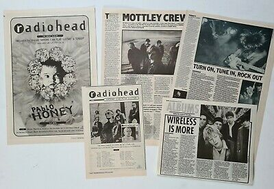 Radiohead (thom Yorke) - 'pablo Honey' Lp Advert/poster + Cuttings Collection! • 1.99£