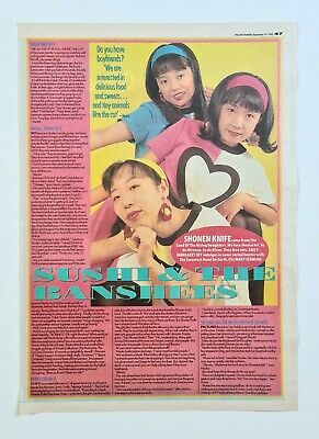 Shonen Knife (moose) - 1992 U.k Mm Colour Pic Interview + Bonus Cuttings - Vg+ • 1.49£
