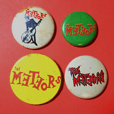Meteors, Psychobilly, Cramps, Horror, Garage Punk Pin Button Badges, SOME RUST • 15£