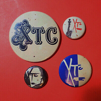 XTC, Pop Group, Wire, Costello, Bin Lid, Post Punk Pin Button Badges, SOME RUST • 15£