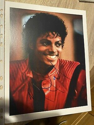 Michael Jackson Hand Signed Picture  • 700£