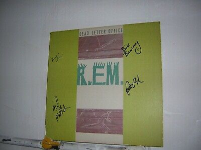 REM Signed LP Dead Letter Office By 4 Musicians Michael Stipe • 85.83£