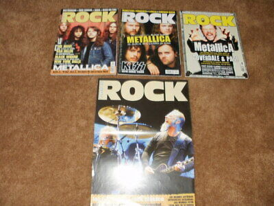 Metallica This Is Rock Magazine Lot Of 3 Spain Poster James Lars Kirk Cliff   • 7.15£