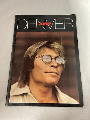 Vintage JOHN DENVER 1980  Autograph Tour  Concert Program Photo Tour Book Large • 13.94£