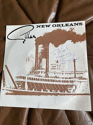 Ian Gillan New Orleans Single Signed • 59.99£