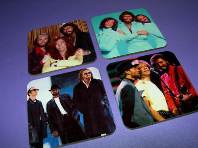 The Bee Gees Photo Drinks Coaster Set • 8.99£