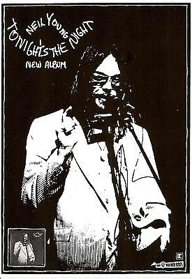 NEIL YOUNG POSTER. A3 Repro. Tonights The Night. • 5.99£